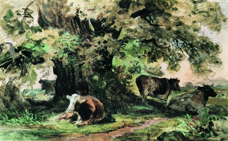 03 cows under the oak