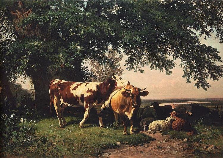04 herd under trees